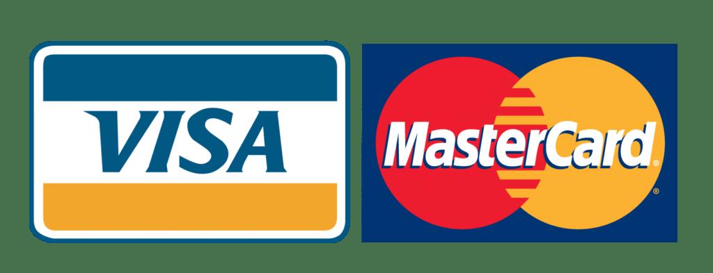Logotipos de VISA y MasterCard
